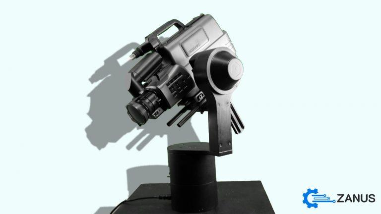 Motorized PTZ camera head